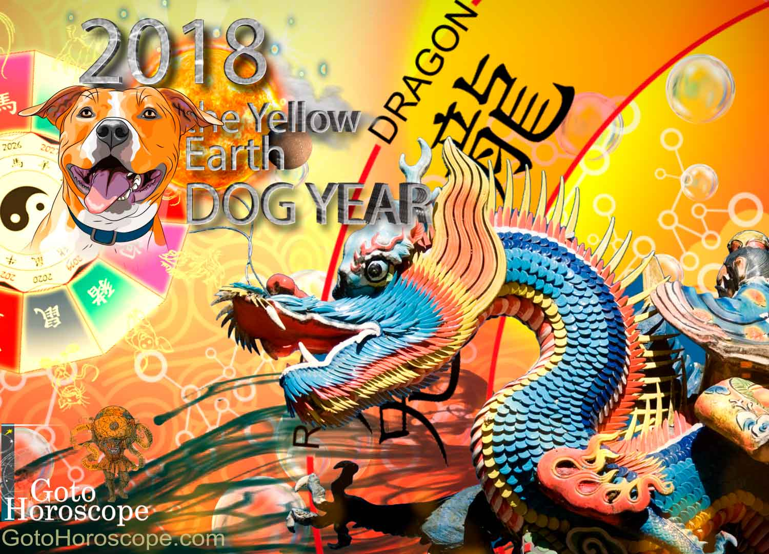 Dragon 2018 Horoscope for the Yellow Earth Dog Year