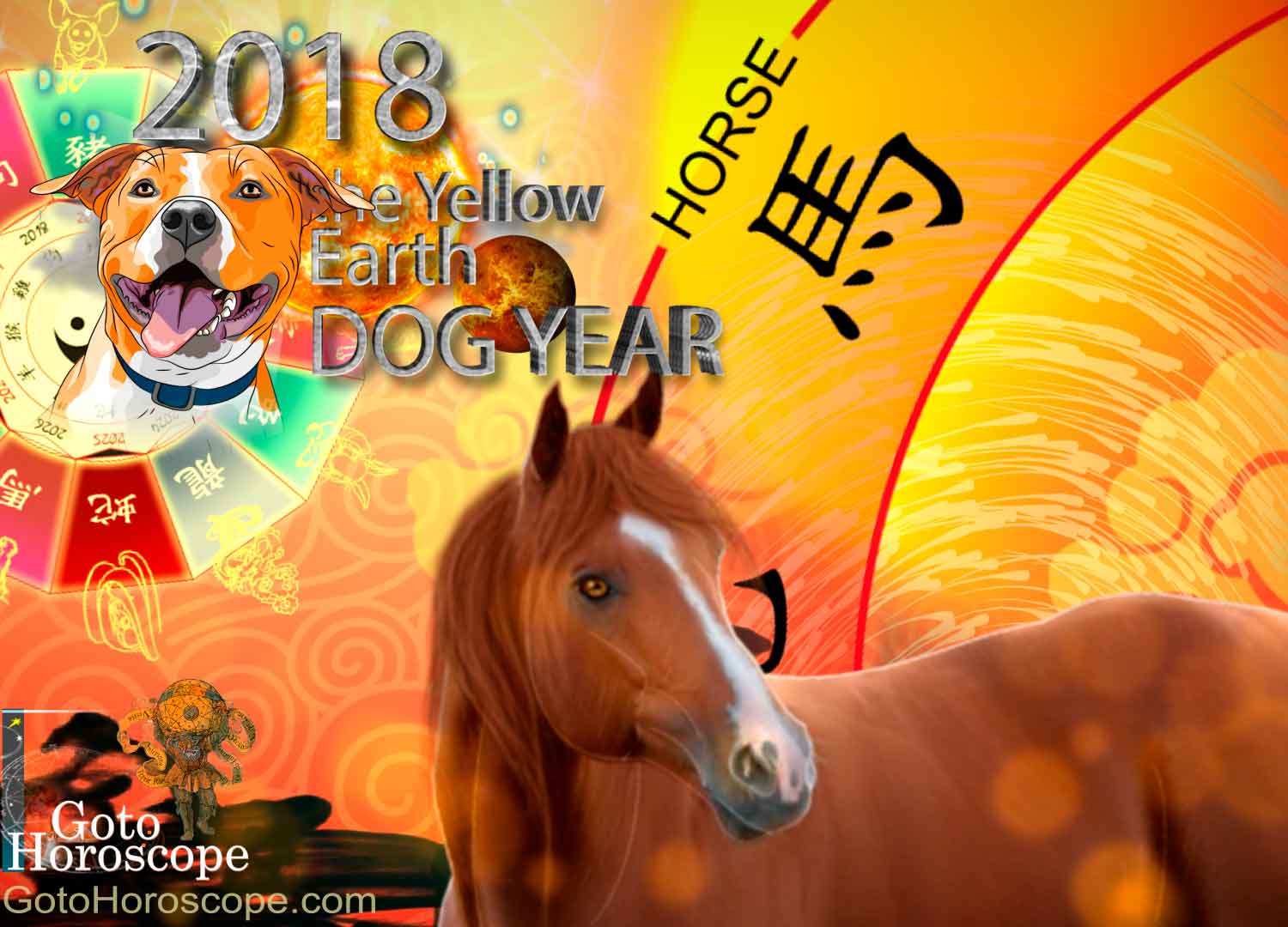 Horse 2018 Horoscope for the Yellow Earth Dog Year