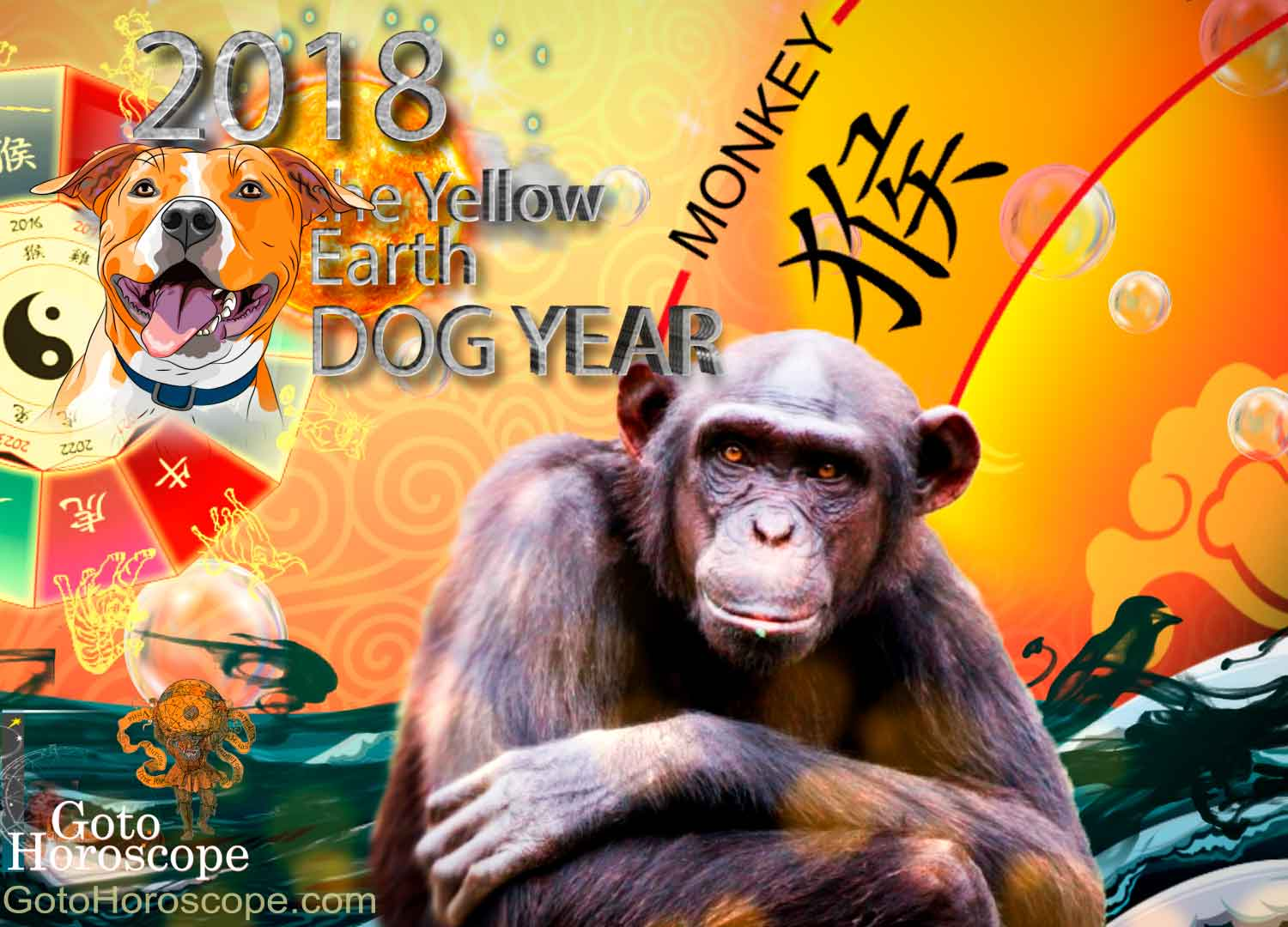 Monkey 2018 Horoscope for the Yellow Earth Dog Year