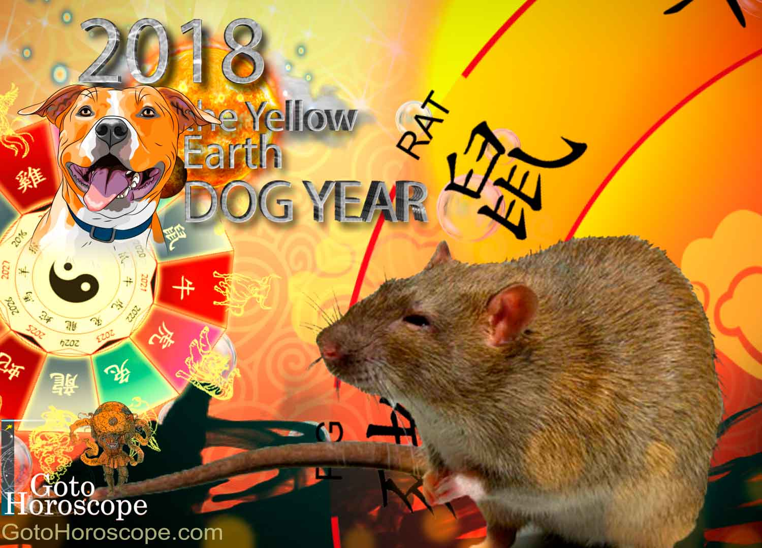 Rat 2018 Horoscope for the Yellow Earth Dog Year