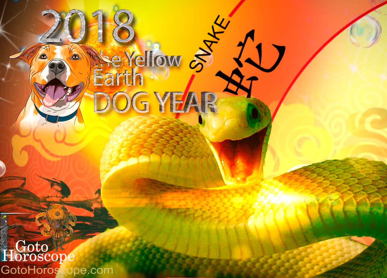 Snake 2018 Horoscope for the Yellow Earth Dog Year