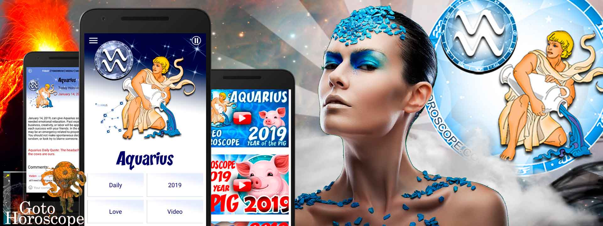 Free Daily horoscope App for Aquarius