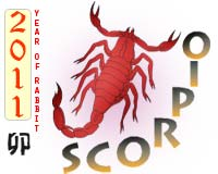 January 2011 Scorpio monthly horoscope