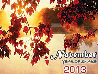 November 2013 monthly horoscope