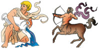 Aquarius and Sagittarius Zodiac signs compatibility