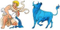 Aquarius and Taurus Zodiac signs compatibility