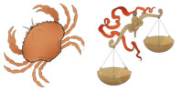 Cancer and Libra Zodiac signs compatibility