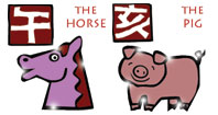 Horse and Pig compatibility horoscope