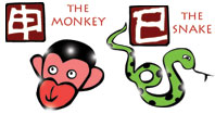 Monkey and Snake compatibility horoscope