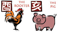 Rooster and Pig compatibility horoscope