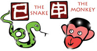 Snake and Monkey compatibility horoscope