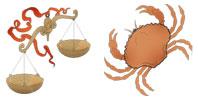 Libra and Cancer Zodiac signs compatibility
