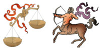 Libra and Sagittarius Zodiac signs compatibility