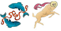 Pisces and Aries Zodiac signs compatibility