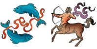 Pisces and Sagittarius Zodiac signs compatibility
