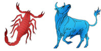 Scorpio and Taurus Zodiac signs compatibility