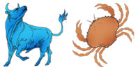 Taurus and Cancer Zodiac signs compatibility