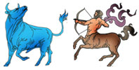 Taurus and Sagittarius Zodiac signs compatibility