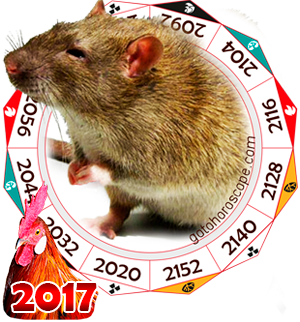 2017 Chinese Horoscope Rat for the Rooster Year