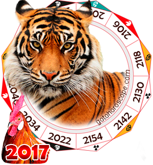 2017 Chinese Horoscope Tiger for the Rooster Year
