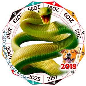 Oriental 2018 Horoscope for Snake