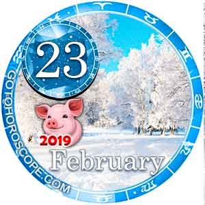 Daily Horoscope for February 23, 2019