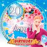 Birthday Horoscope for April 20th