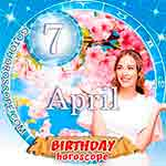 Birthday Horoscope April 7th