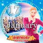 Birthday Horoscope for January 17th