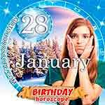 Birthday Horoscope for January 28th