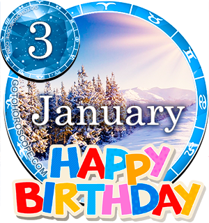 Birthday Horoscope January 3rd for all Zodiac signs