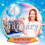 Birthday Horoscope January 4th