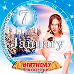Birthday Horoscope January 7th