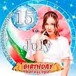 Birthday Horoscope July 15th
