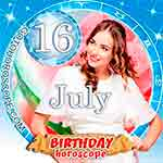 Birthday Horoscope for July 16th