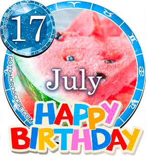 Birthday Horoscope for July 17th