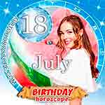 Birthday Horoscope July 18th