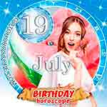 Birthday Horoscope for July 19th