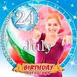 Birthday Horoscope for July 24th