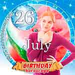 Birthday Horoscope for July 26th