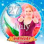 Birthday Horoscope for July 27th