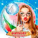 Birthday Horoscope July 4th