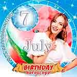 Birthday Horoscope July 7th