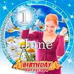 Birthday Horoscope June 1st
