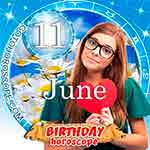 Birthday Horoscope June 11th