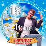 Birthday Horoscope June 18th