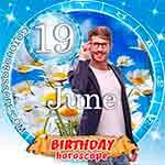 Birthday Horoscope June 19th