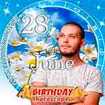 Birthday Horoscope June 28th