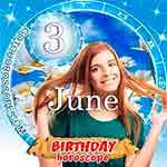 Birthday Horoscope for June 3rd
