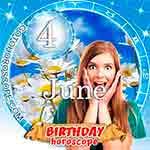 Birthday Horoscope for June 4th